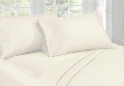 1000TC Cotton Sateen Ivory King Sheet Set by Phase 2
