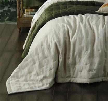 Laundered Linen King Natural Bedspread Set by MM Linen