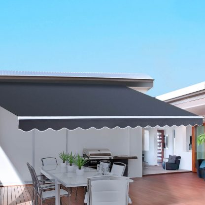 Instahut Retractable Outdoor Arm Awning 2.5 x 2M - Grey