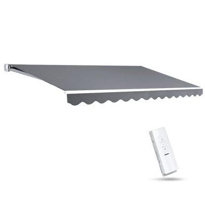Instahut Motorised 3x2.5m Folding Arm Awning - Pearl Grey