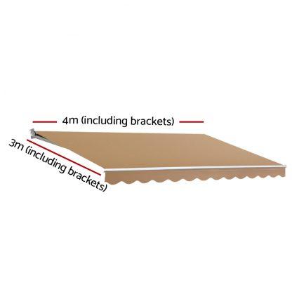 Instahut Motorised 4x3m Folding Arm Awning - Beige