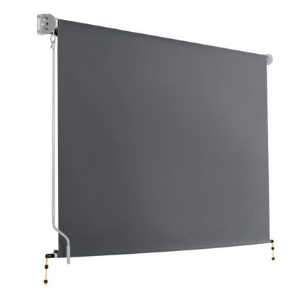 Instahut 2.7m x 2.5m Retractable Roll Down Awning - Grey