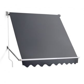 Instahut 2.1m x 2.1m Retractable Fixed Pivot Arm Awning - Grey