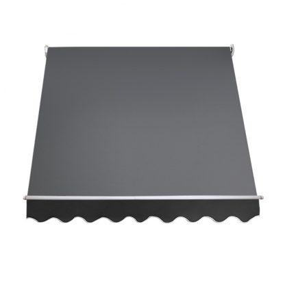 Instahut 2.1m x 2.1m Retractable Fixed Pivot Arm Awning - Grey