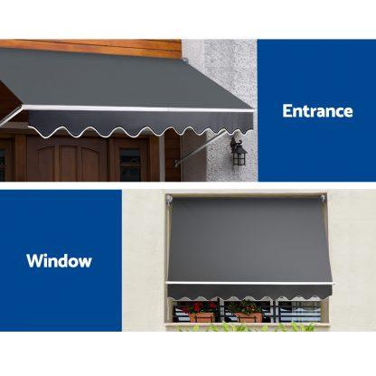 Instahut 2.8X2.1 Retractable Fixed Pivot Arm Window Awning Garden Blinds