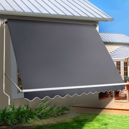 Instahut 3.1X 2.1 M Retractable Fixed Pivot Arm Window Awning Garden Blinds