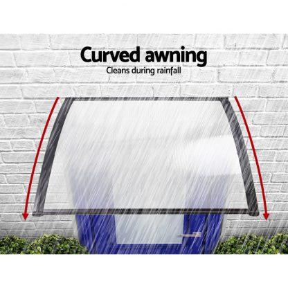 Instahut 1X2.4M Window Door Awning Canopy Rain Cover Sun Shield