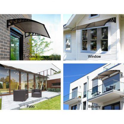 Instahut DIY Window Door Awning Shade 1 x 3m - Brown