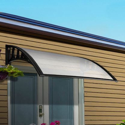 Instahut Window Door Awning Door Canopy Patio UV Sun Shield WHITE 1mx4m DIY