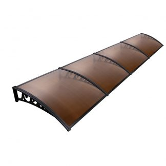 Instahut Window Door Awning Door Canopy Patio UV Sun Shield BROWN 1mx4m DIY