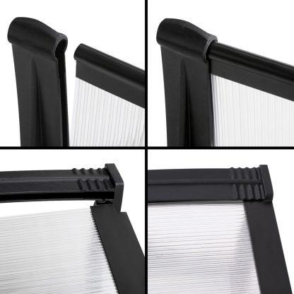 Instahut DIY Window Door Awning Shade 1 x 2m - Transparent
