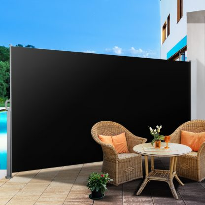 Instahut Retractable Side Awning Shade 1.8 x 3m - Black