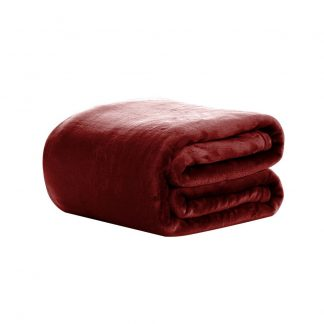 Giselle Bedding Faux Mink Blanket Winter Quilt Doona Fleece Throw Rug Red King