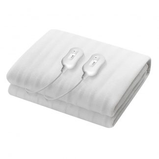 Giselle Heated Electric Blanket Washable Fully Fitted Polyester Underlay Pad Double