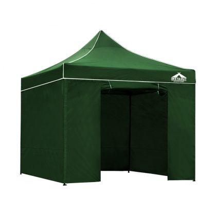 Instahut Gazebo Pop Up Marquee 3x3m Folding Wedding Tent Gazebos Shade Green