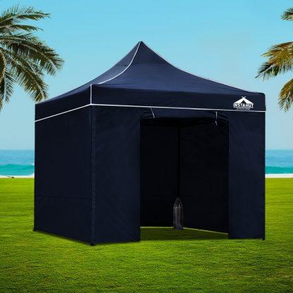 Instahut Gazebo Pop Up Marquee 3x3m Folding Wedding Tent Gazebos Shade Navy