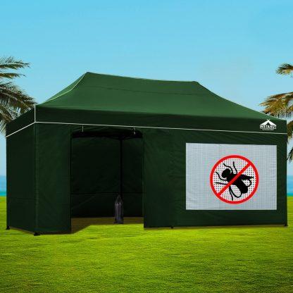 Instahut Gazebo Pop Up Marquee 3x6m Folding Wedding Tent Gazebos Shade Green