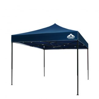 Instahut Gazebo Pop Up Marquee 3x3m Outdoor Tent Folding Wedding Gazebos Navy