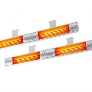 Devanti 2 x 3200W Electric Radiant Strip Patio Heater Panel Halogen Heat Bar Outdoor Indoor