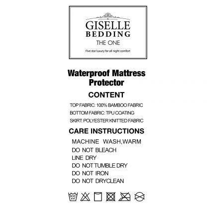 Giselle Bedding King Single Size Waterproof Bamboo Mattress Protector