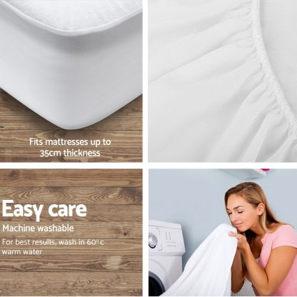 Giselle Bedding Single Size Waterproof Bamboo Mattress Protector