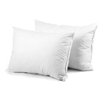 Giselle Bedding Set of 2 Goose Feather and Down Pillow - White