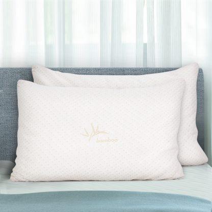 Giselle Bedding Set of 2 King Bamboo Memory Foam Pillow