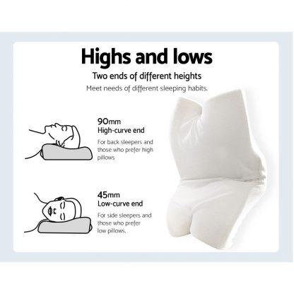 Giselle Memory Foam Pillow Neck Pillows Contour Rebound Pain Relief Support