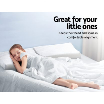 Giselle Memory Foam Pillow Kid Pillows Contour Low Profile Contour Small Cushion