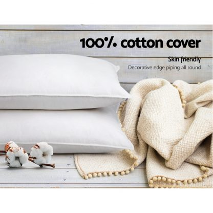 Giselle Bedding Set of 4 Medium & Firm Cotton Pillows