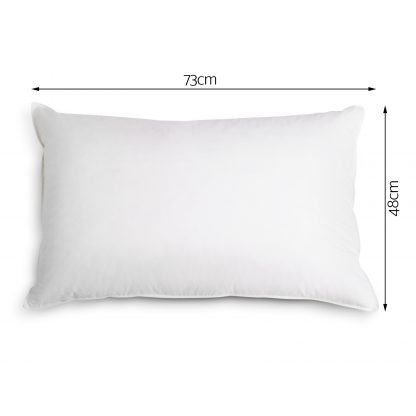 Giselle Bedding Set of 4 Firm Cotton Pillows