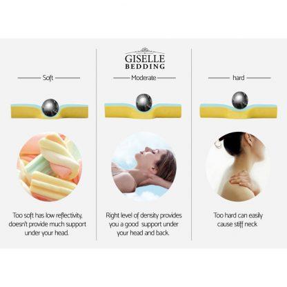 Giselle Bedding Foam Wedge Back Support Pillow - Beige