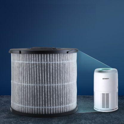 Devanti Air Purifier Desktop Replacement Filter Purifiers HEPA Carbon 3 Layer