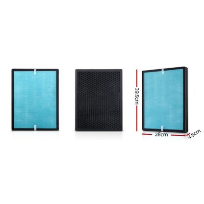 Devanti Replacement Filter Air Purifier True HEPA Filters Carbon Layer