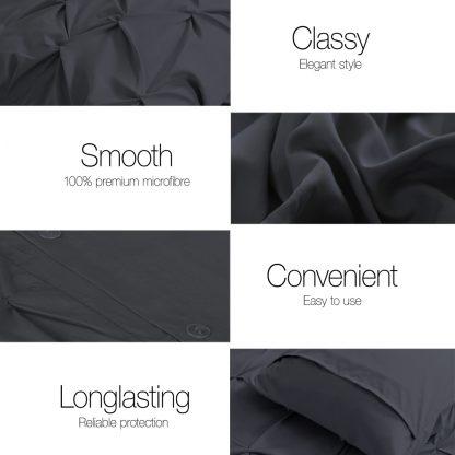 Giselle Bedding Super King Quilt Cover Set - Black