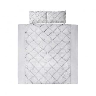 Giselle Bedding Super King Size Quilt Cover Set - Grey