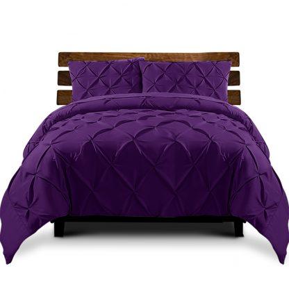 Giselle Luxury Classic Bed Duvet Doona Quilt Cover Set Hotel Queen Purple