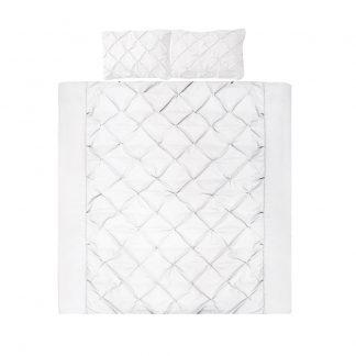 Giselle Bedding Super King Size Quilt Cover Set - White