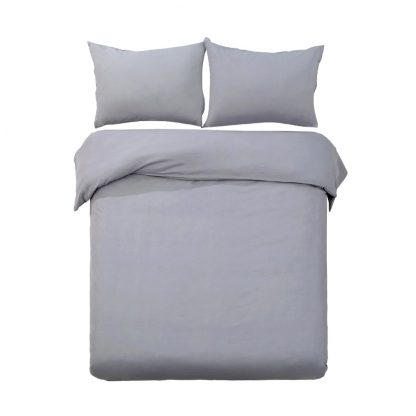 Giselle Bedding Queen Size Classic Quilt Cover Set - Grey