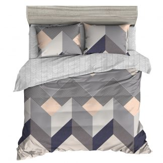 Giselle Bedding Quilt Cover Set Queen Bed Doona Duvet Sets Geometry Square Pattern