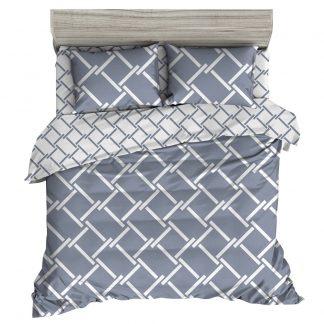 Giselle Bedding Quilt Cover Set King Bed Doona Duvet Reversible Sets Geometry Pattern
