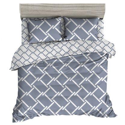 Giselle Bedding Quilt Cover Set Queen Bed Doona Duvet Reversible Sets Geometry Pattern