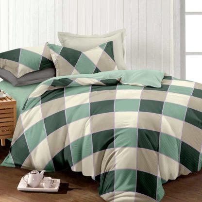 Giselle Bedding Quilt Cover Set King Bed Doona Duvet Reversible Sets Square Diamond Pattern
