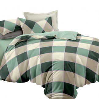 Giselle Bedding Quilt Cover Set Queen Bed Doona Duvet Reversible Sets Square Diamond Pattern