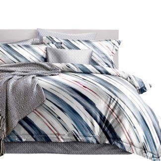 Giselle Bedding Quilt Cover Set King Bed Doona Duvet Reversible Sets Stripe Pattern