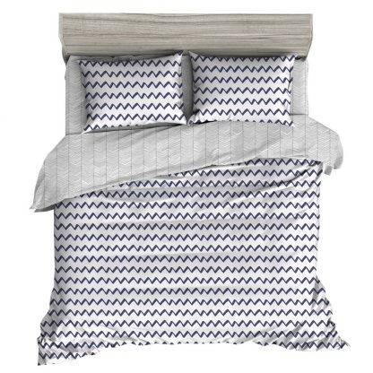 Giselle Bedding Quilt Cover Set Queen Bed Doona Duvet Reversible Sets Wave Pattern Black White