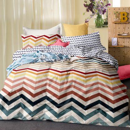 Giselle Bedding Quilt Cover Set King Bed Doona Duvet Reversible Sets Wave Pattern Colourful