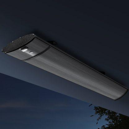 Devanti Electric Infrared Radiant Strip Heater Panel Heat Remote Control 2400W