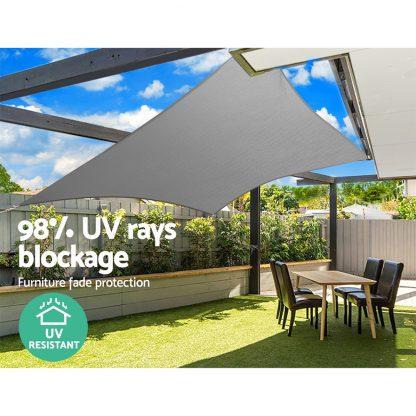 Instahut Sun Shade Sail Cloth Canopy Shadecloth Awning Outdoor Rectangle 280gsm