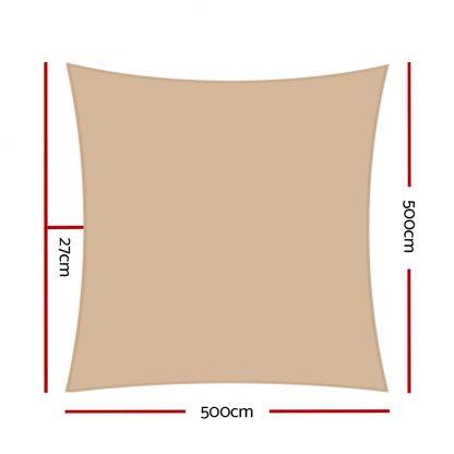 Instahut 5x5m 280gsm Shade Sail Sun Shadecloth Canopy Square